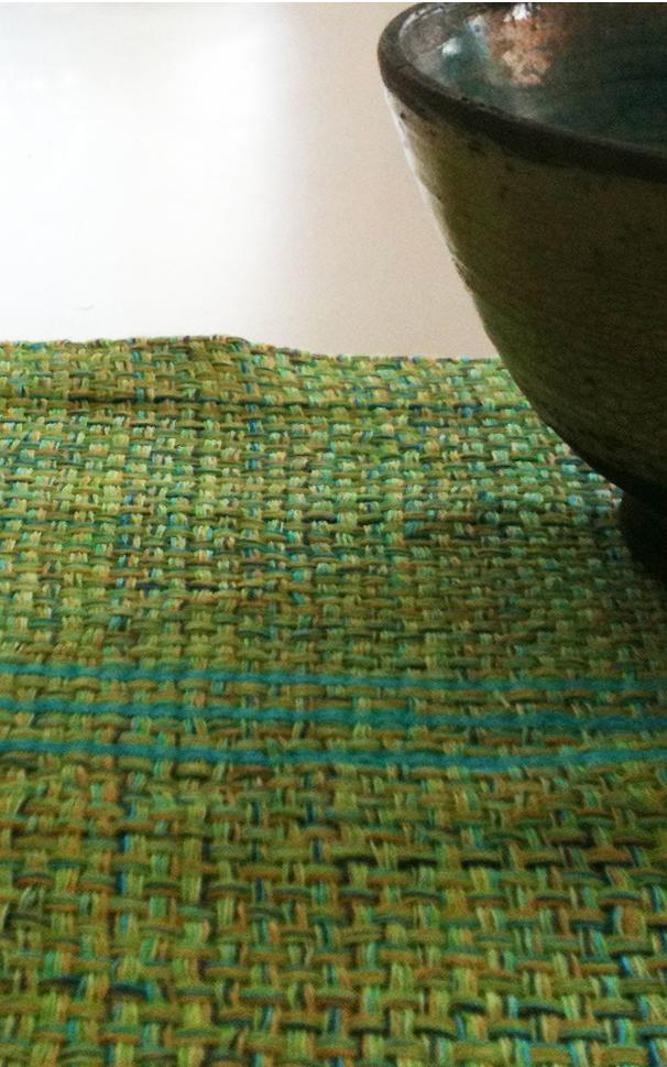 Væv P13 Vårgrønne dækkeservietter