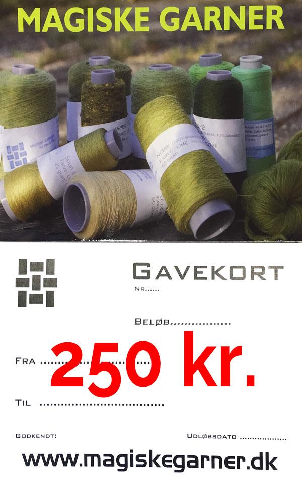 Gavekort 250 kr.