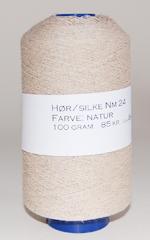 Hør/silke, natur Nm 24 (100gr.)